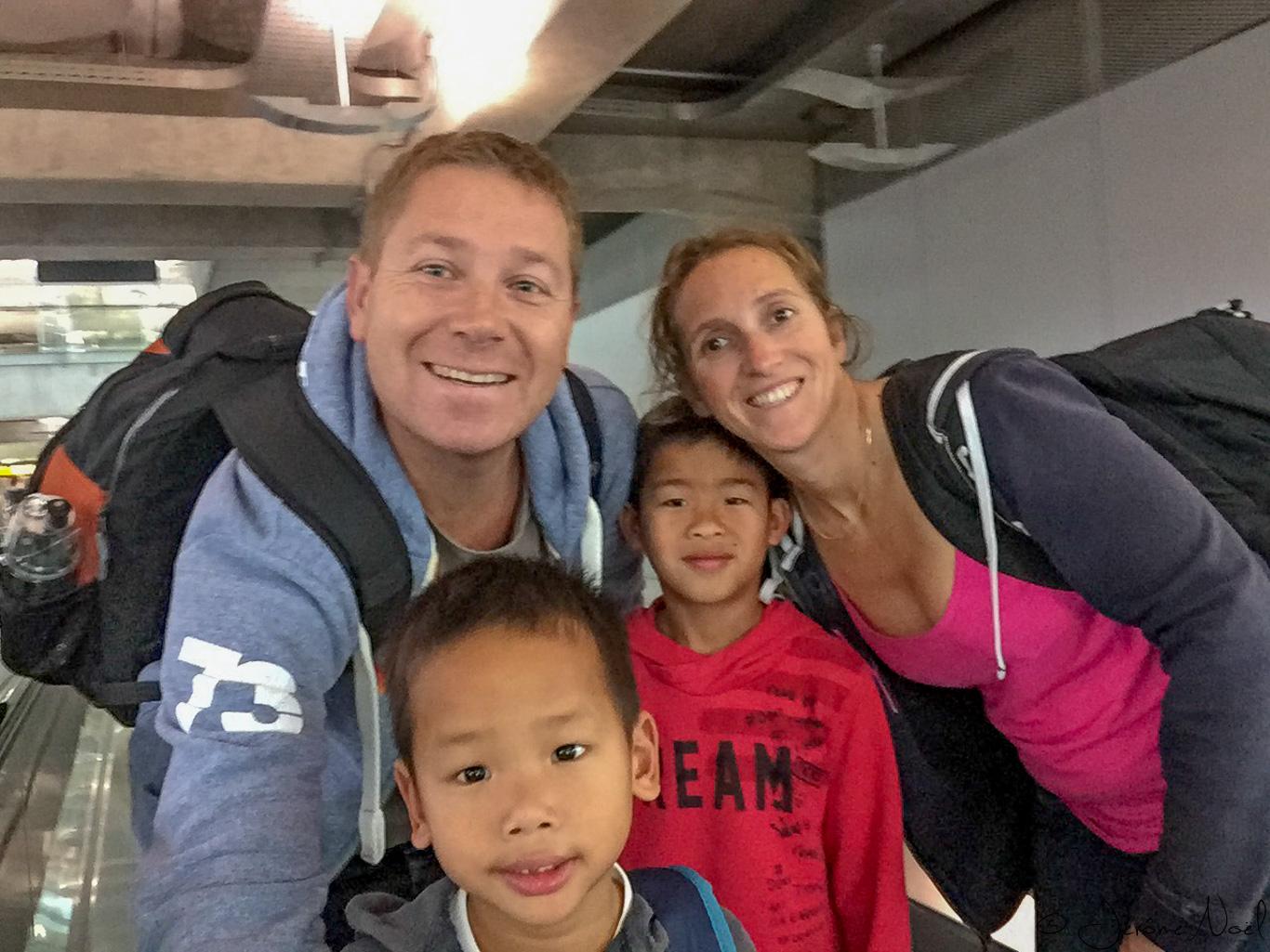 Arrivés à Bangkok ... encore avec le sourire