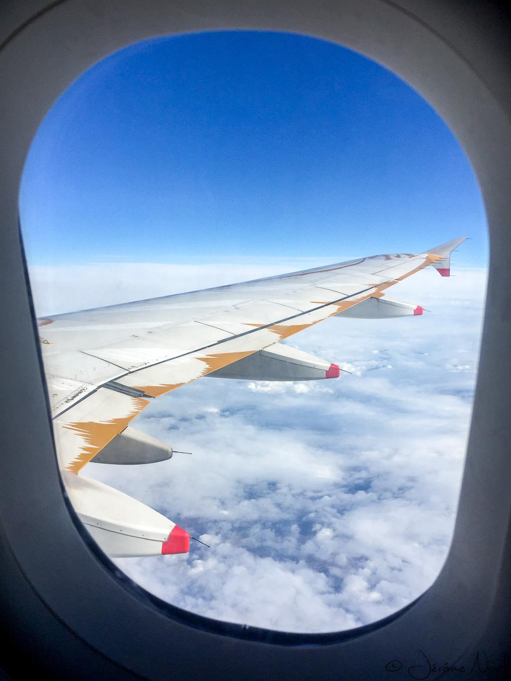 Belle vue au dessus des nuages