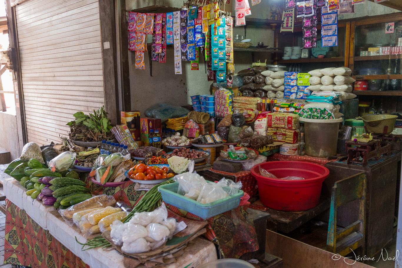 Jimbaran - marché traditionnel, légumes