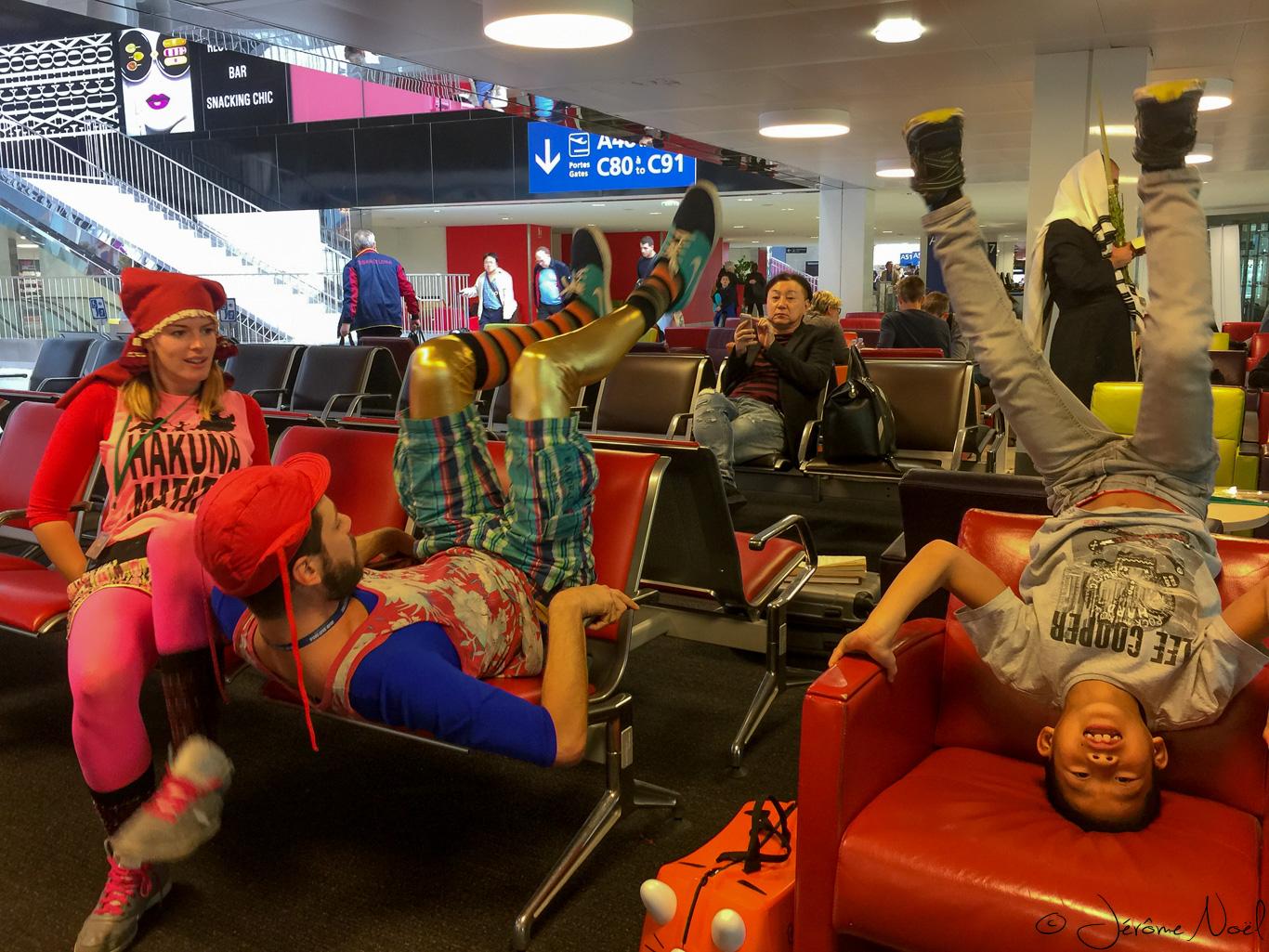 Le cirque à l'aéroport CDG