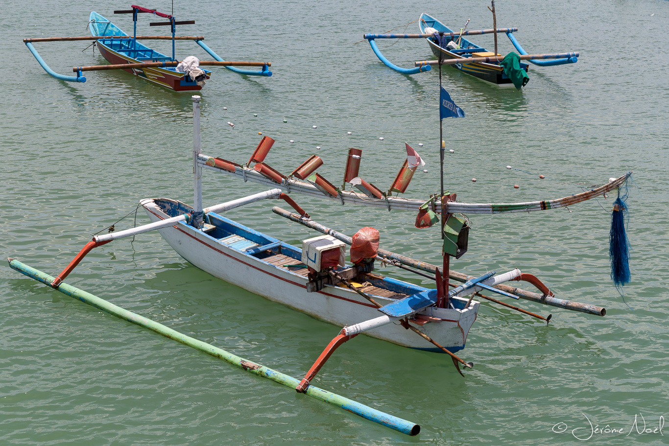 Plage de Jimbaran - Bateaux de pêche