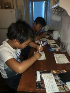 Ecriture des cartes postales