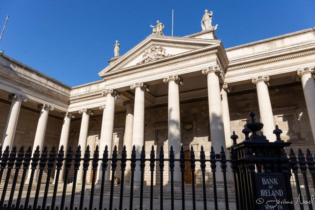 Parliament House aujourd'hui siège social de la Bank Of Ireland